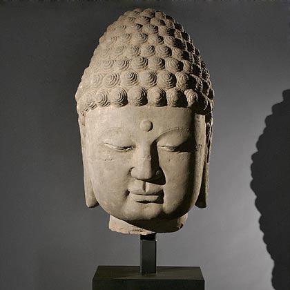 Asian Artifacts - Sandstone Buddha Head